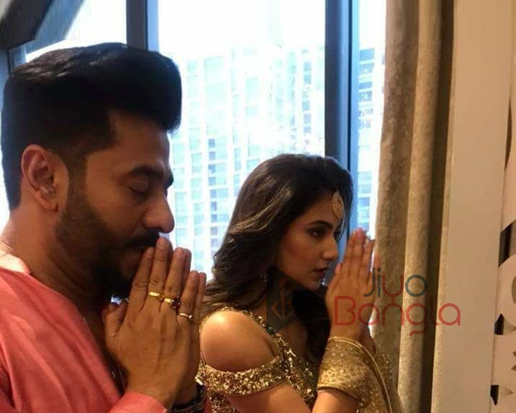 Raj and Shubhasree praying for their success full future