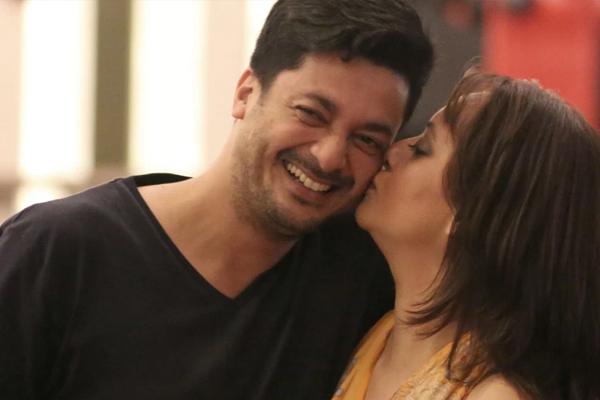 Jisshu Sengupta and his lovely wife Nilanjana Sengupta