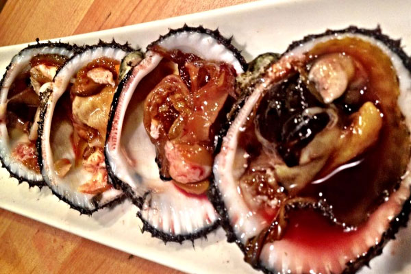 7. Blood clams (consumed in China): They ingest viruses and bacteria that causes hepatitis A, E, typhoid and dysentery.