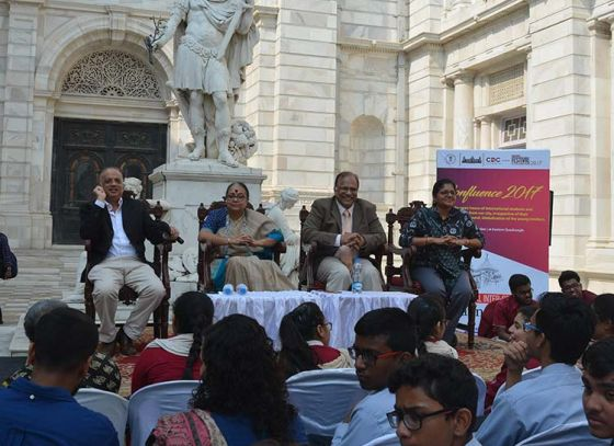 "Victoria Memorial Hall witnessed ""Student confluence 2017"" by Calcutta Debating Circle"