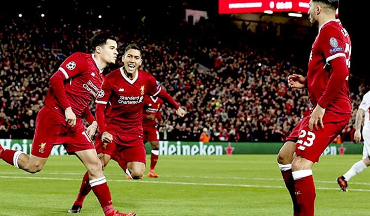 The Reds of Liverpool run riot with Seven goal win over Spartak Moscow to finish top of Group E in Champions League