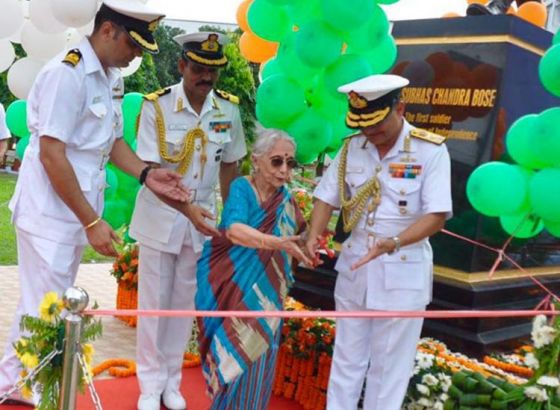 Netaji statue unveiled at West Bengal Naval headquarters