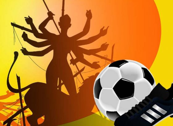 Bengalis love for football showcased in Puja Pandal