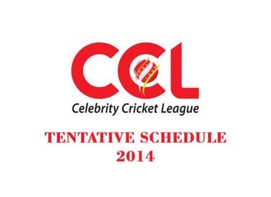 TENTATIVE SCHEDULE of Celebrity Cricket League 2014