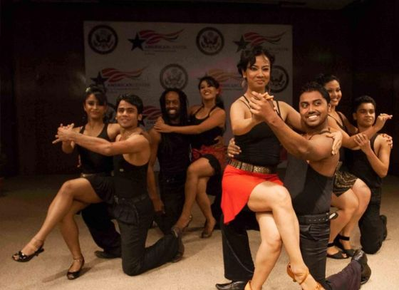 """Darryl Thomas taught """"Afro-Disiac"""" to the students of Sapphire Dance Academy in Kolkata"""