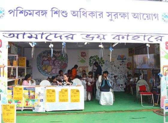 Kids on the role in 42nd International Kolkata Book Fair 2018