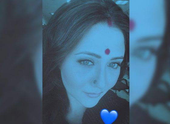 What is the significance of Swastika Mukherjee's Blue selfie?
