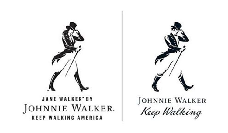 Move over Johnnie Walker! Walking woman Jane is the new Black Label