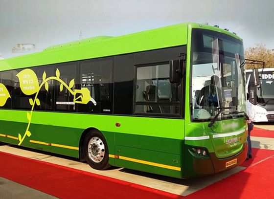 Eco-friendly buses in Kolkata