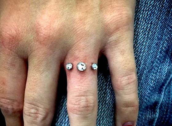 Engagement piercing..! The new way to display commitment