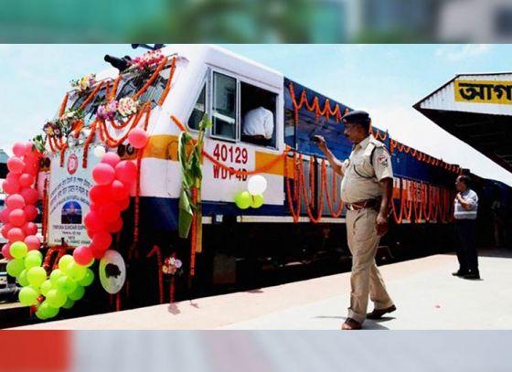 Kolkata Bangladesh First Container Train Flagged off