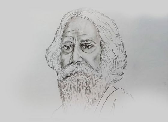 Celebrating Gurudev Rabindranath Tagore's 157th birth anniversary with his beautiful artworks
