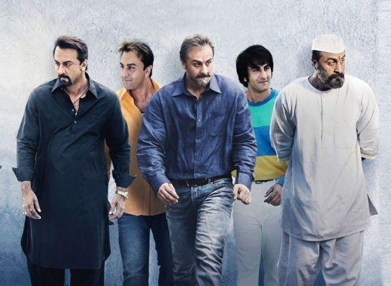 Ranbir's new look in Sanjay Dutt's Biopic
