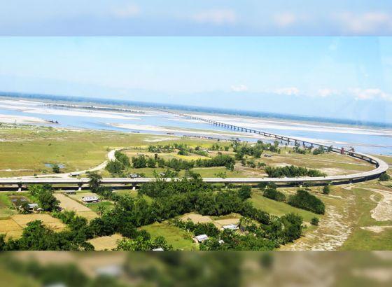 Longest road-rail Bridge in India