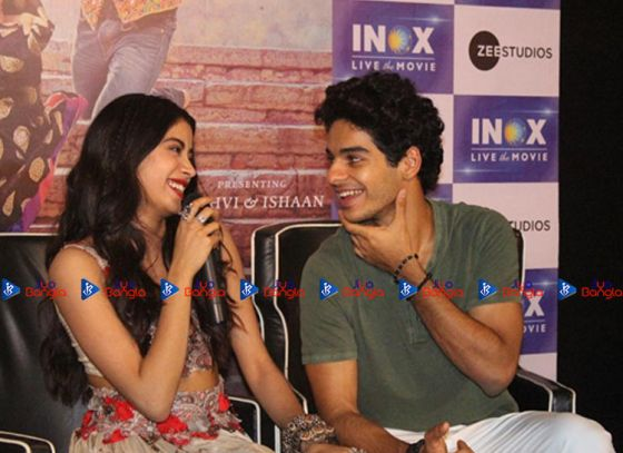 DHADAK TEAM SPOTTED IN INOX, QUEST MALL FOR PROMOTION