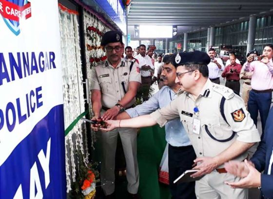 Kiosk Inauguration at the Airport by Bidhannagar Police