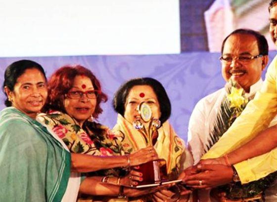 CM Mamata Banerjee attends 'Biswa Bangla Sarod Samman' event