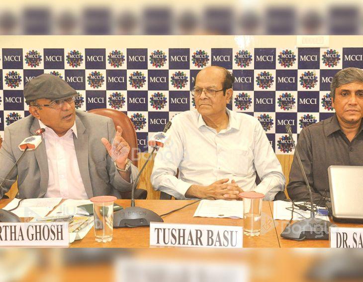 Prof. Partha Ghosh, International Strategy Expert;  Tushar Basu, chairman, HRD Standing Committee, MCCI &  Dr Saikat Maitra, Vice Chancellor, Maulana Abul Kalam Azad University of Technology - MAKAUT