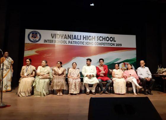 Inter-school patriotic song competition by Vidyanjali High School