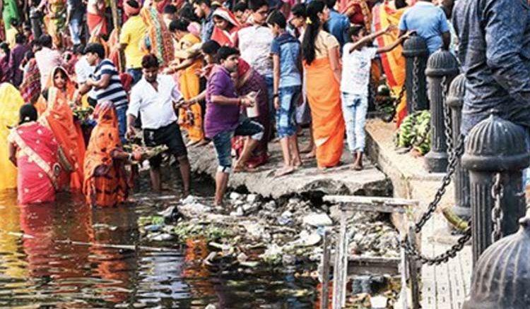 No chhath puja celebrations at Rabindra Sarobar
