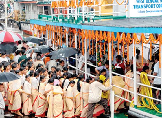 Kuthighat ferry service flagged off