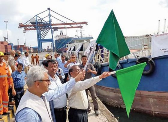 Cargo container flagged off from Haldia
