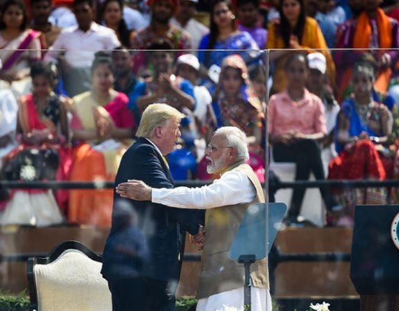 Modi welcomes Trump at Motera Stadium