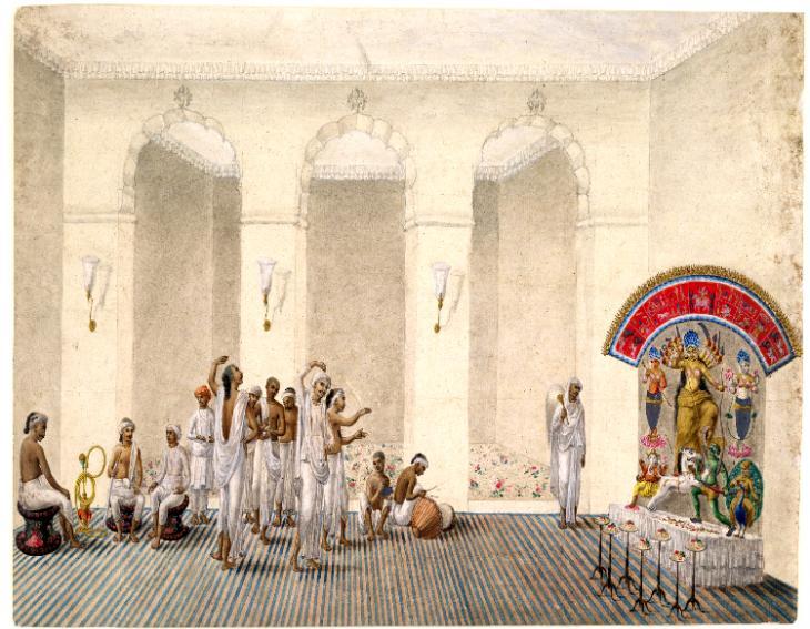 কলকাতার দুর্গাপুজোয় ফিরিঙ্গিদের প্রভাব